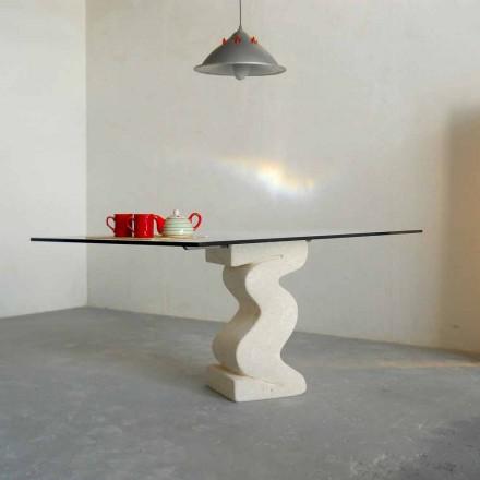 stenen eettafel en modern design kristal Anteros