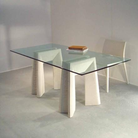 stenen eettafel en modern design kristal Arianna