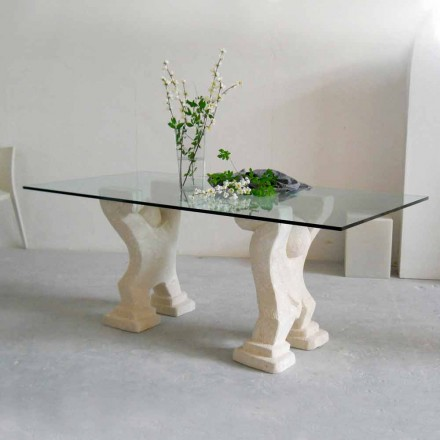 Stone eettafel en modern design kristal Medusa