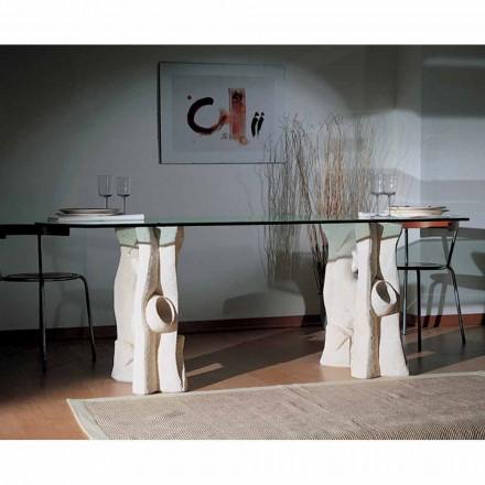 door stenen eettafel en modern design kristal Daiana