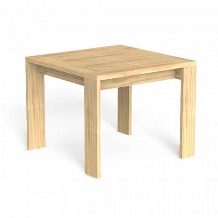 Vierkante design tuintafel in kostbaar hout - Argo van Talenti