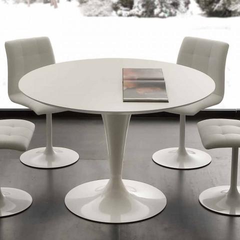 Moderne Ronde Eettafel.Witte Ronde Eettafel Topeka Modern Design