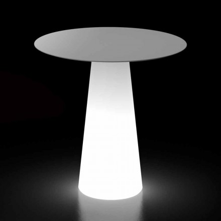 Designtafel voor buiten met LED-lichtvoet Made in Italy - Forlina