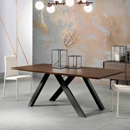 Ontwerp massief houten tafel gemaakt in Italië, Wilmer