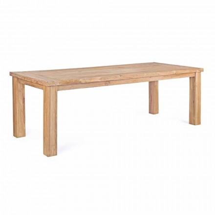 Tuintafel in design teakhout, 8 zitplaatsen Homemotion - Hunter