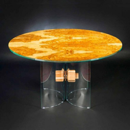 olijf houten lijst en Portofino ronde glazen
