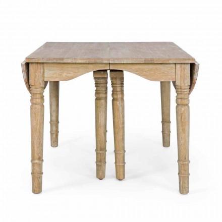 Klassieke tafel in massief hout, uitschuifbaar tot 382 cm Homemotion - Brindisi