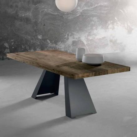 Massief houten designtafel gemaakt in Italië Zerba
