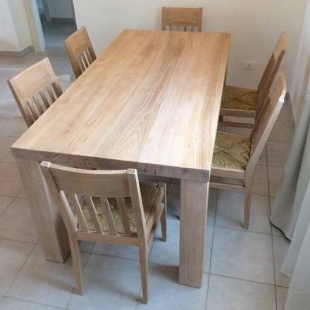 Klassiek design massief essenhouten tafel gemaakt in Italië - Nicea