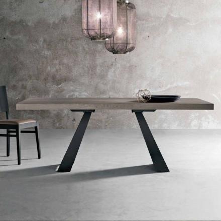 Moderne geknoopte eikenhouten tafel geproduceerd in Italië Zerba