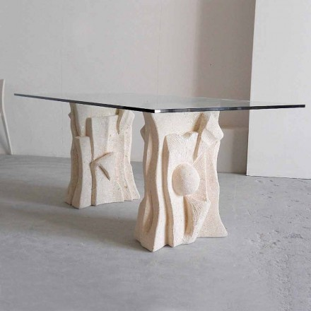 stenen tafel met modern design kristal Priamus