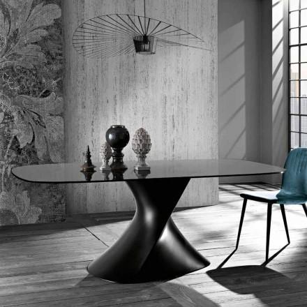 Moderne designtafel van gehard glas gemaakt in Italië, Clark