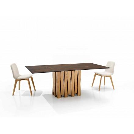 Moderne designtafel in glaskeramiek gemaakt in Italië, Egisto