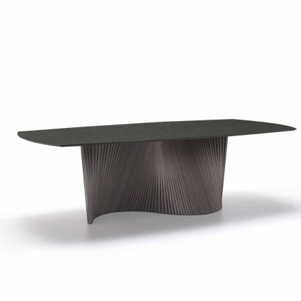 Moderne tafel met marmeren effect steengoed top gemaakt in Italië, Adrano