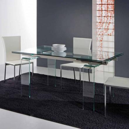 Moderne tafel volledig gemaakt van gehard glas Atlanta
