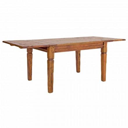 Klassieke uitschuifbare tafel tot 290 cm in massief hout Homemotion - Carbo