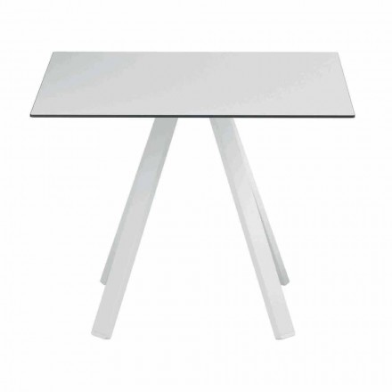 Vierkante buitentafel in metaal en HPL gemaakt in Italië - Deandre