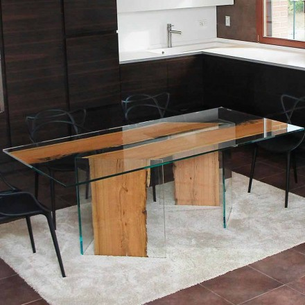 Aparte Glazen Eettafel.Viadurini Collection By Bricale Houten Eettafels Of Klassiek Of