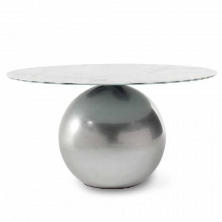 Ronde keramische tafel met metalen onderstel Made in Italy - Bonaldo Circus