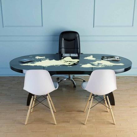 Moderne bureau tafel met glazen blad gemaakt in Italië, Pontida