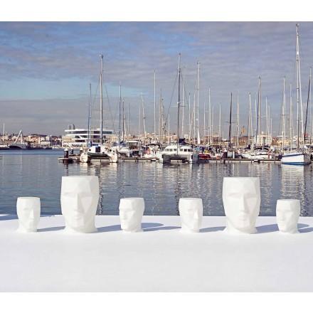 Moderne buiten-gezicht-vormige tafel Adan door Vondom, in polyethyleen