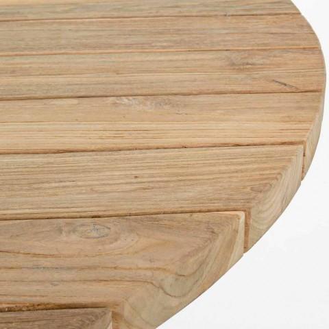 Ronde moderne buitentafel met homemotion - Ruben teakhouten blad