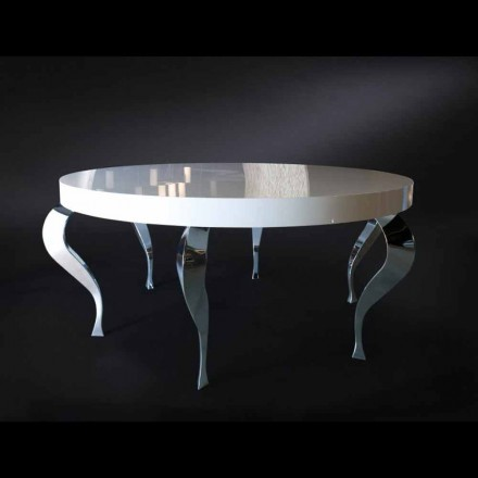 Ronde tafel moderne MDF en Luigi staal