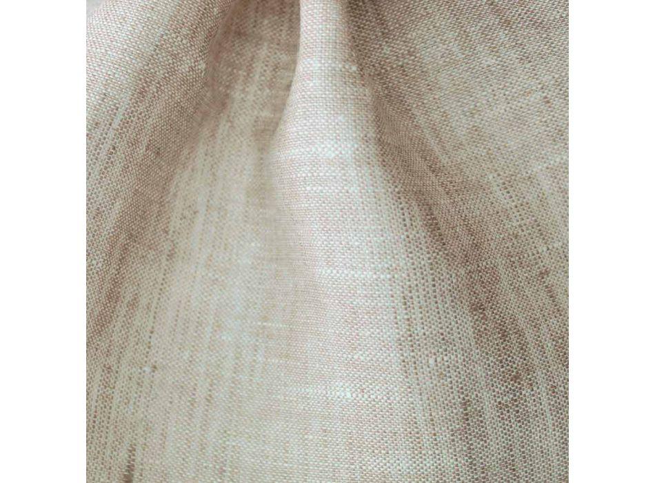Badhanddoek in pure crème of natuurlijk wit linnen Made in Italy - Blessy