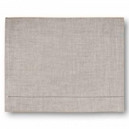 Moderne badhanddoek in crème wit of natuurlijk linnen Gemaakt in Italië - Chiana