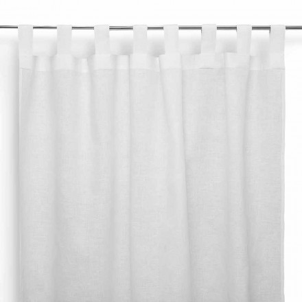 Rod Curtain in puur crème wit linnen Made in Italy - Plechtig