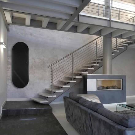 Termoarredo elektrisch ontwerp Brian gehard glas, gemaakt in Italië