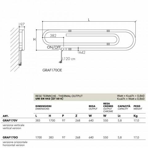 Termoarredo elektrische nietjessysteem met chroom Scirocco H