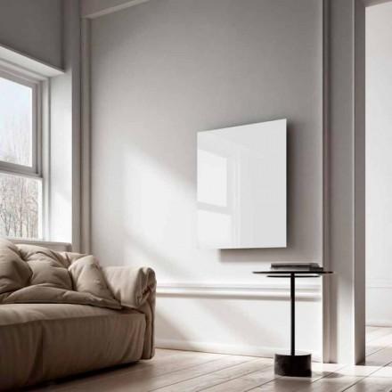 Elektrische radiatoren infrarode stralen design in wit glas Duidelijk