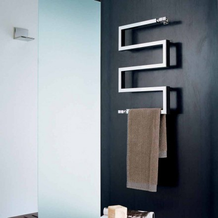 elektrische chroom radiator in modern design Slang door Scirocco H