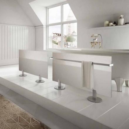 Elektrische radiatoren van modern design vloer in Star wit glas