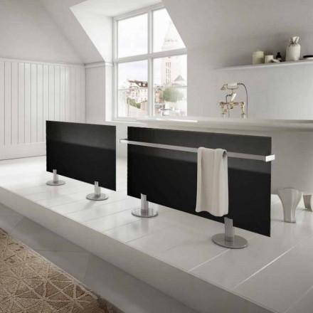 Elektrische radiatoren van modern design vloer in zwart glas Star