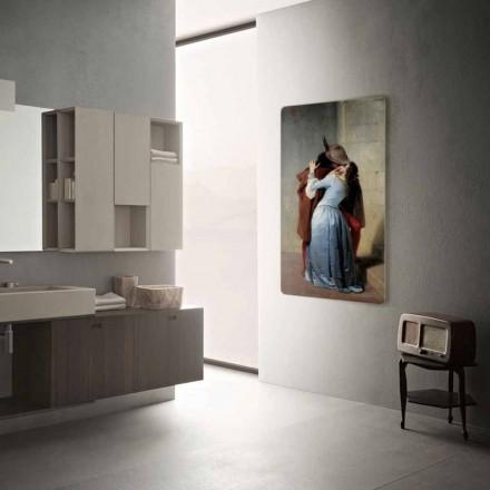 Termoarredo elektrische modern design aangepast met foto's Jonny