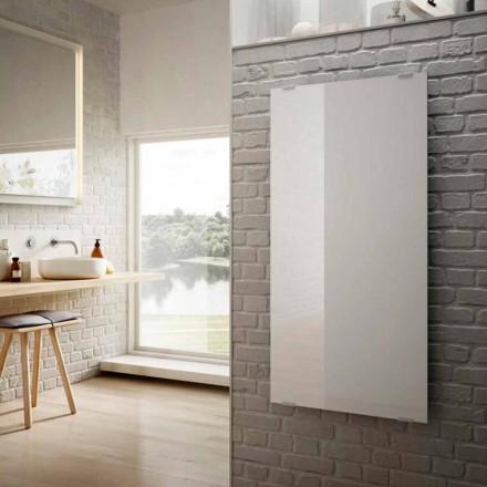 Elektrische radiatoren in het ontwerp van de Ster wit glas, gemaakt in Italië