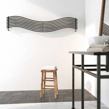 Termoarredo Hydraulische modern design in Wave van Scirocco H staal