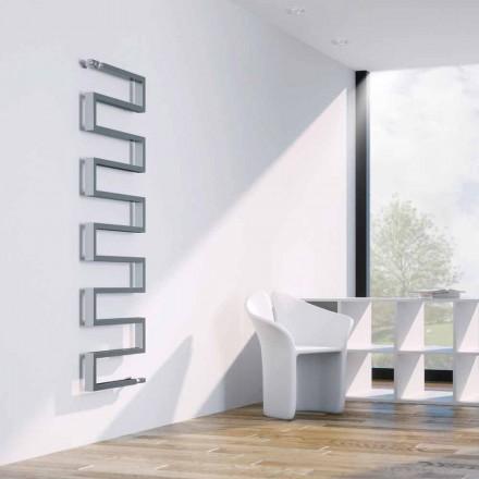 Termoarredo verticale hydraulische chroom slang door Scirocco H