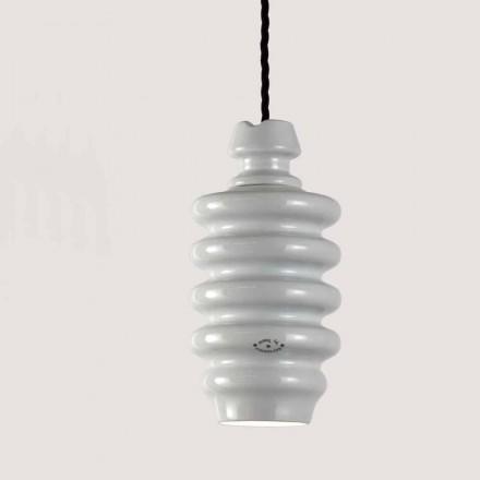 TOSCOT Battersea lamp witte keramische suspensie