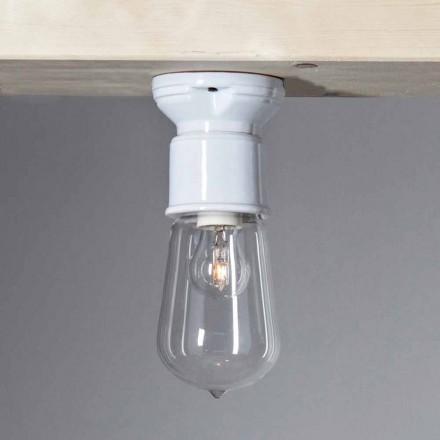 TOSCOT twintigste eeuw moderne plafondlamp terracotta en glas