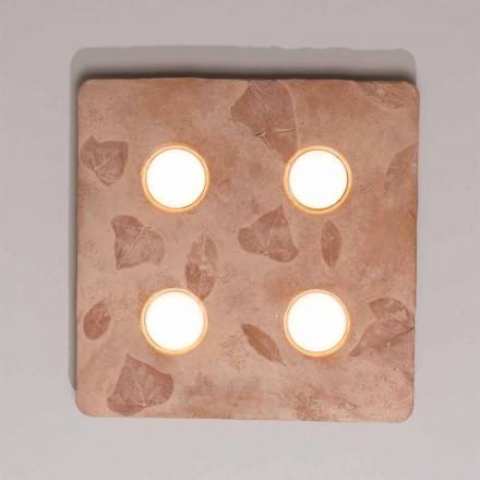 Toscaanse Vivaldi design wandlamp in terracotta gemaakt in Italië