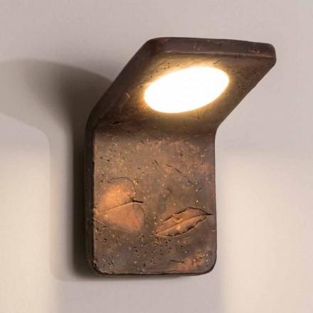 Toscaanse handgemaakte terracotta wandlamp van Vivaldi in Italië