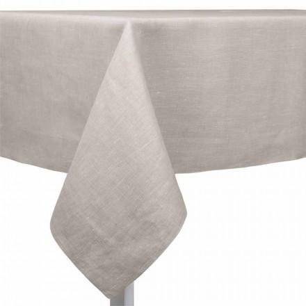 Natuurlijk, rechthoekig of vierkant linnen tafelkleed Made in Italy - Poppy