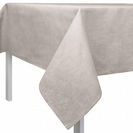 Rechthoekig of vierkant tafelkleed in natuurlijke kleur Made in Italy - Blessy