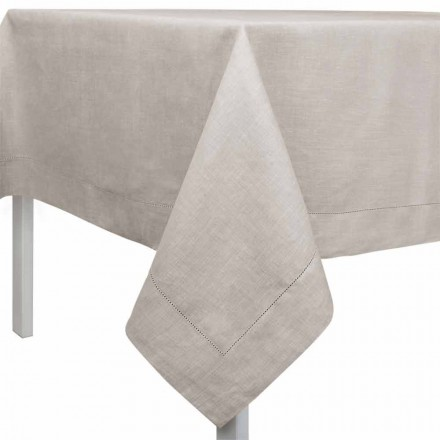 Rechthoekig of vierkant tafelkleed in natuurlijk linnen Made in Italy - Chiana