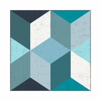 Amerikaans design placemat in PVC en polyester, 6 stuks - Romio