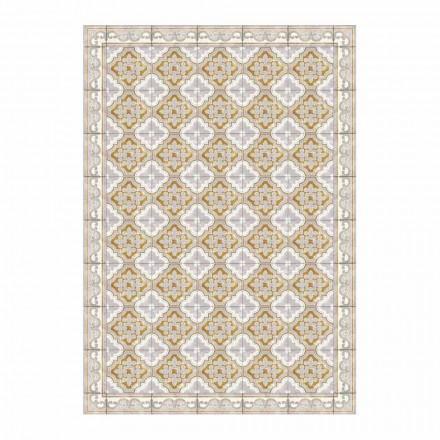 Amerikaanse placemat in PVC en modern gekleurd polyester, 6 stuks - Dorado