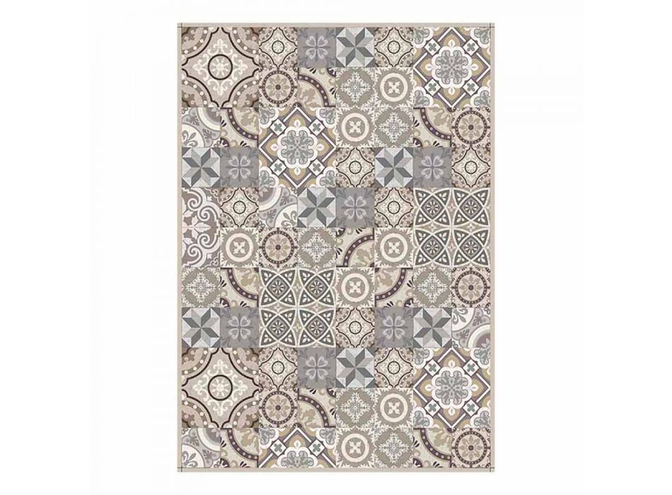 Amerikaanse placemat in PVC en wasbaar modern polyester, 6 stuks - Malia